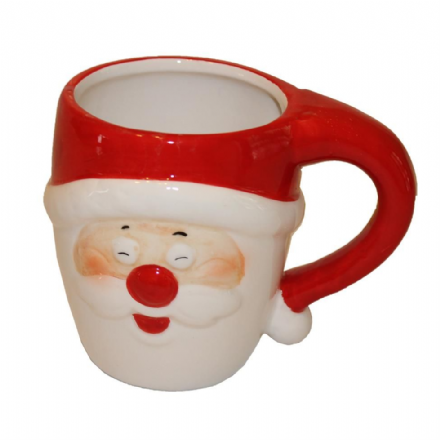 Laughing Jolly Santa Ceramic Father Christmas Mug Gift